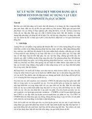 XỬ LÝ NƯỚC THẢI DỆT NHUỘM BẰNG QUÁ TRÌNH FENTON DỊ THỂ SỬ DỤNG VẬT LIỆU COMPOSTE Fe2O3/CACBON