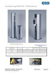 Tischsäule Typ POCB 100 - 120 Aluminium
