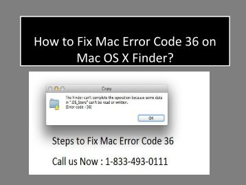1-833-493-0111 Steps to Fix Mac Error Code 36