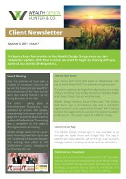 Quarter 3 2017 | Issue 7 Client Newsletter