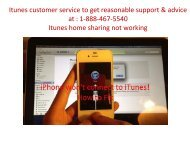iTunes Customer Service to get technical support number & help