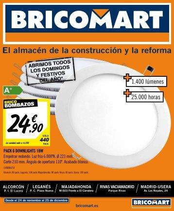 Bricomart Folleto Iluminación Técnica del 24 de Noviembre al 25 de Diciembre 2017