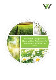 Wealth Design Client Agreement and Fee Document