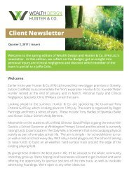 Quarter 2 2017 | Issue 6 Client Newsletter
