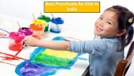 5 Best Playgroup School in India for Kids & Childrens