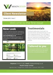 Quarter 4 2015 | Issue 1 Client Newsletter