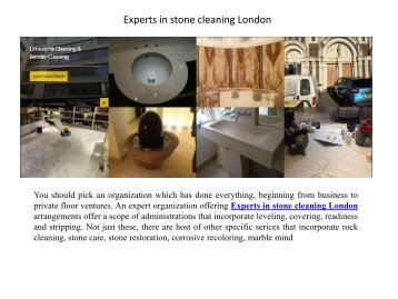 Experts in stone cleaning London