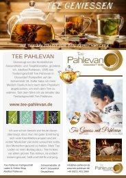 Tee Pahlevan Tee-Online-Shop Fachspezialist