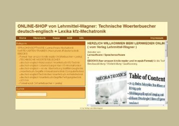Vokabeln technisches Englisch Technical Vocabulary german-english