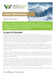 Quarter 1 2017 | Issue 5 Client Newsletter