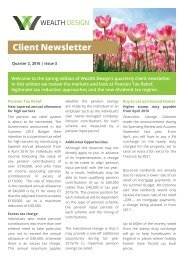 Quarter 2 2016 | Issue 3 Client Newsletter