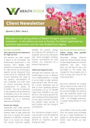 Quarter 1 2016 | Issue 2 Client Newsletter