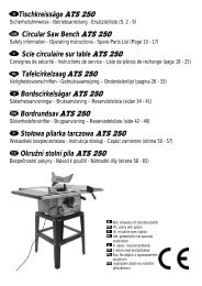 Tischkreissäge ATS 250 Circular Saw Bench ATS 250 Scie - Atika