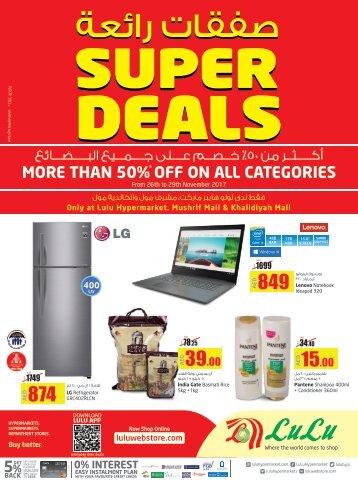 SUPER DEALS 50% discount