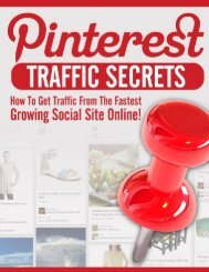 Pinterest Traffic Guide - How To Get More Pinterest Traffic