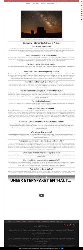 Sterntaufe  Sternentaufe Frage & Antwort - Sternkaufen.org