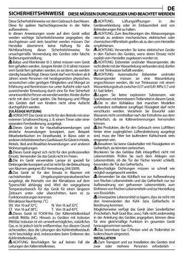 KitchenAid UGI 1041/A+ - UGI 1041/A+ DE (855395201300) Health and safety