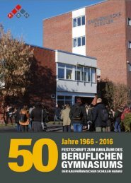 50-jähriges Jubiläum des Beruflichen Gymnasiums der Kaufmännischen Schulen Hanau