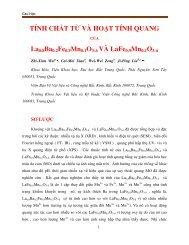 TÍNH CHẤT TỪ VÀ HOẠT TÍNH QUANG CỦA La0.8Ba0.2Fe0.9Mn0.1O3-δ VÀ LaFe0.9Mn0.1O3-δ