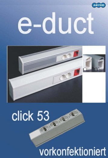 Kunststoff Kabel - Brüstungskanal e-duct 53 anbaubar