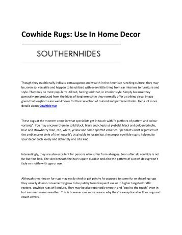 6 Cowhide rug