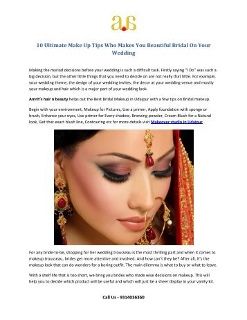 10 ultimate make up tips who makes you beautiful bridal on your wedding