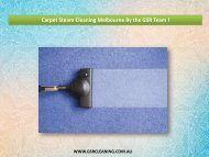 Carpet Steam Cleaning Melbourne By the GSR Team !