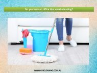 Do you have an office that needs cleaning?