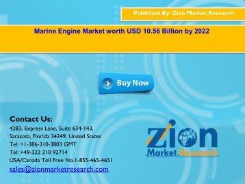 Global Marine Engine Market, 2016 – 2022