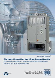 Klima- Kompaktgeräte - Weiss Klimatechnik GmbH