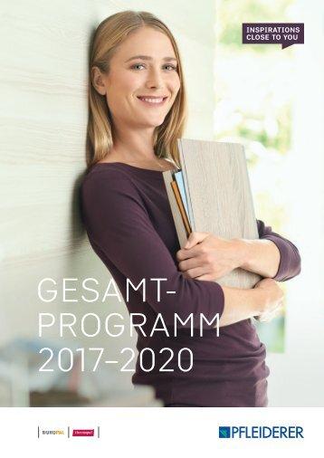 Pfleiderer Gesamtprogramm 2017 - 2020