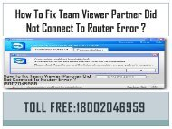 18442003971  Fix TeamViewer Partner Not Connect To Router Error