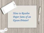 How to Resolve Paper Jams of an Epson Printer?