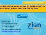 Kombucha Market Expected to Touch Worth 2457.0 Billion USD by 2022