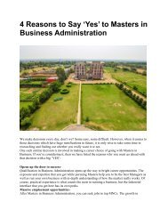 4 Reasons to Say 'Yes' to Masters in Business Administration