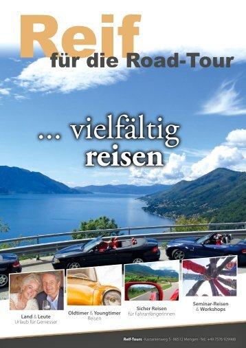 Reif Tours  - Vielfältig Reisen 2018 Urlaub