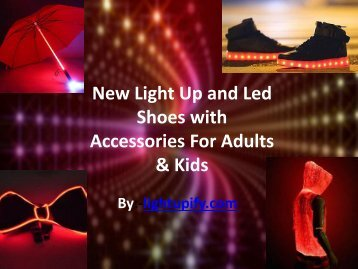 New Light Up and Led Shoes with Accessories For Adults & Kids