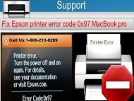 How to Fix Epson Printer Error Code 0x97 MacBook Pro? 1-800-213-8289