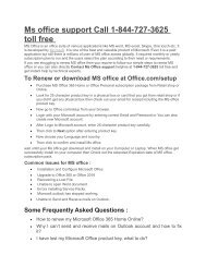 Ms office customer care 1-844-727-3625 toll free