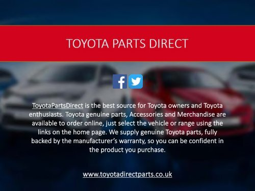 Toyota Parts Direct >> Toyota Parts Direct