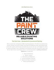 Residential & Commercial Painting - The Paint Crew
