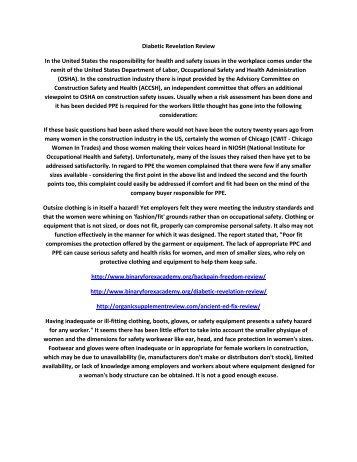 Diabetic Revelation Review