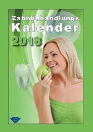 Zahnbehandlungkalender 2018 - METATRON Verlag