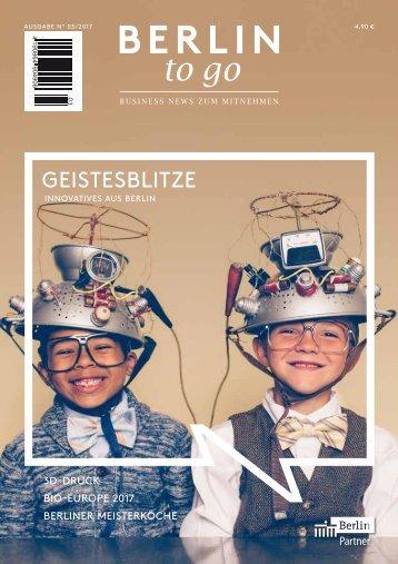 Berlin to go, Ausgabe 3.2017