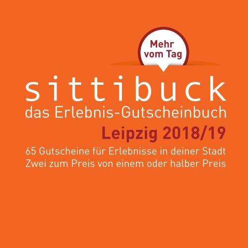 sittibuck _ Erlebnis-Gutscheinbuch für Leipzig 2018/19 _ Mehr vom Tag