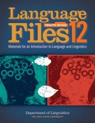 Language Files Materials for an Introduction to Language and Linguistics (12th ed)
