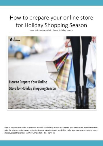 How to prepare your online store for Holiday Shopping Season