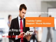 Toshiba Tablet Support  Number  +1-800-256-0160
