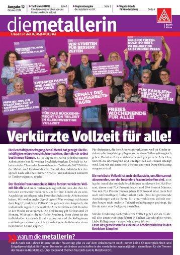 die metallerin 12 - Regionalausgabe Bremen