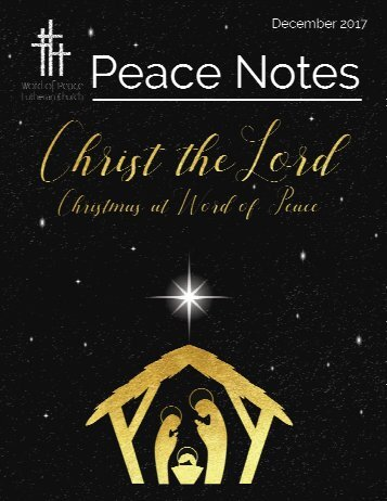 Peace Notes-December 2017 - Word of Peace Lutheran Church
